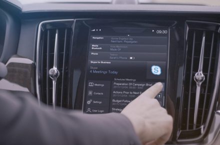 Volvo Skype for Business - in-car productivity tool
