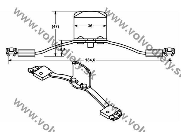 Montážne príslušenstvo brzdových platničiek S60/V70(2005