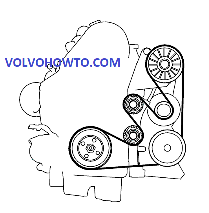Volvo S40 Engine Diagram Serpentine Belt