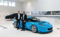 Team Lotus Cyan Racing Evora GT with Prince Carl Philip.