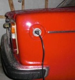 Volvo charging port ...