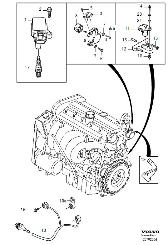 1998 Volvo S70 Aperture. Ignition System. Intake Side