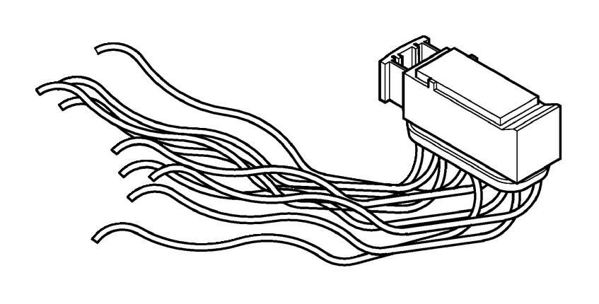 V50 Repair kits a-pillar. Repair kit cable harness A-post