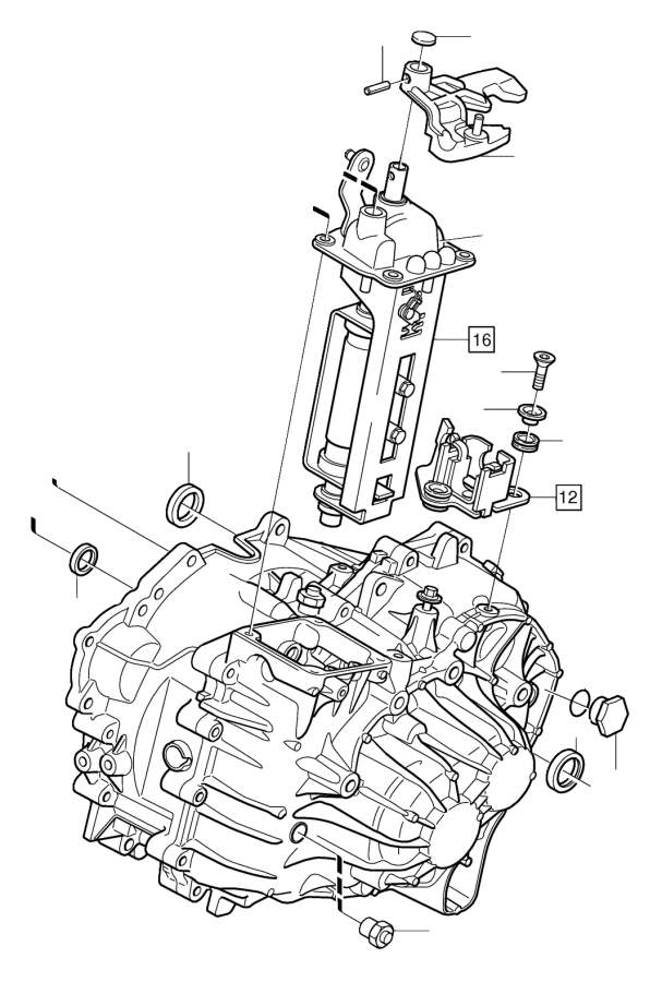 Gearbox, manual related parts
