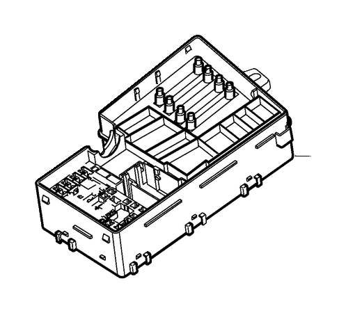 Volvo V50 Relay and fuse box engine compartment, relay and
