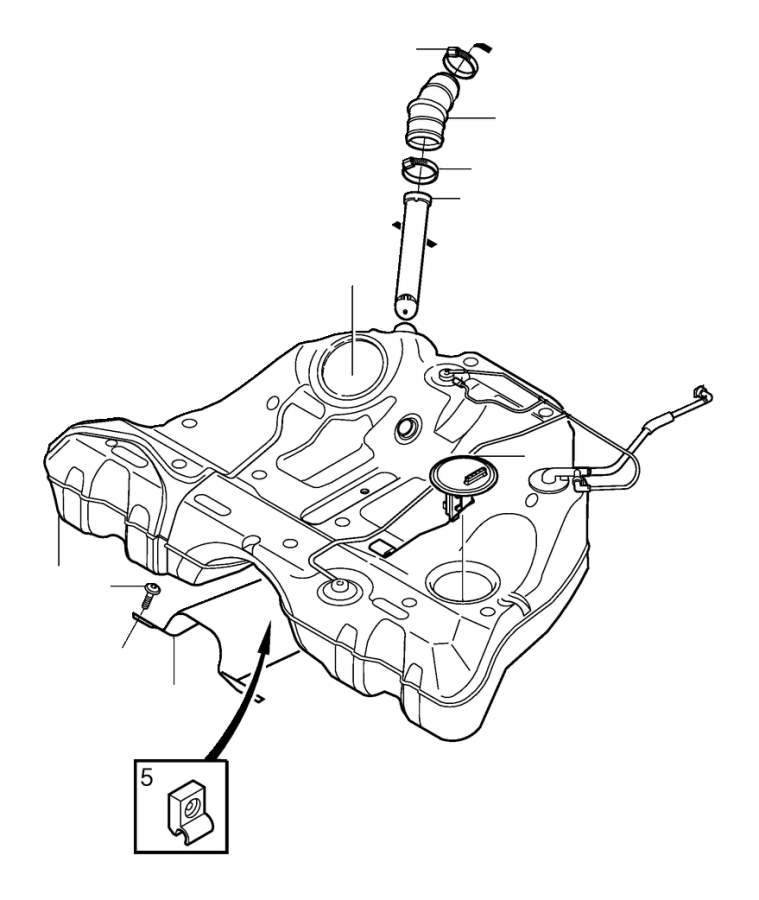 Fuel tank and connecting parts V70R, S60R.
