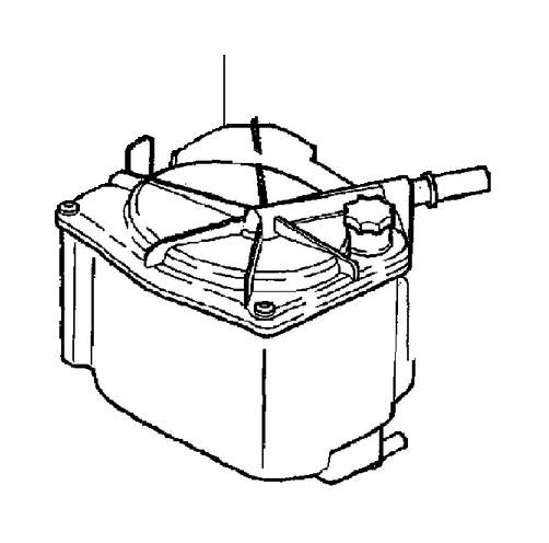 Volvo Fuel filter with mounting parts