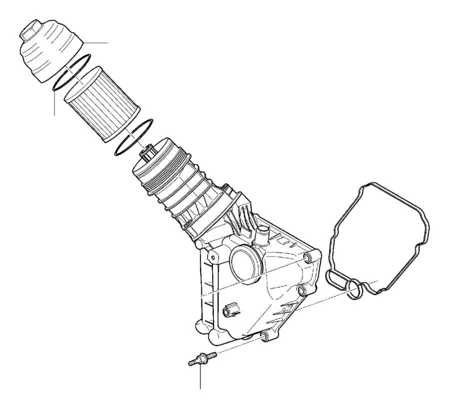 Dop oliefilterhuis C30/S40/V50/C70 (2011-2013), V40/V40CC