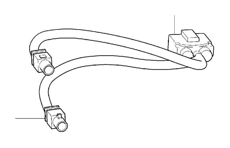 Volvo S60 Wiring harness. Retrofitted, Tuner, DAB