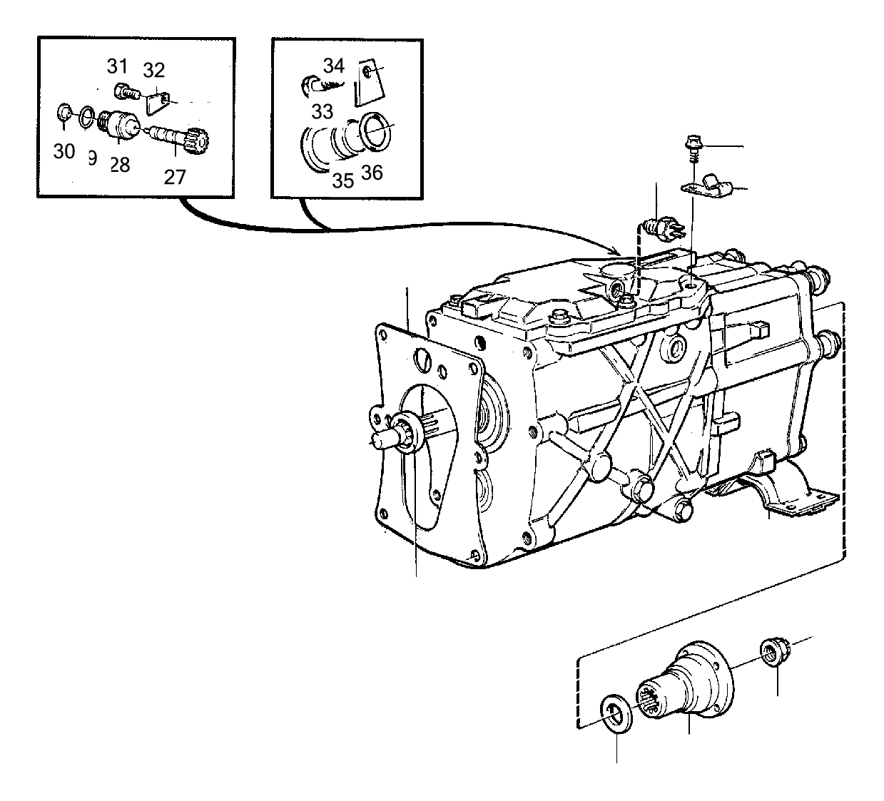 Volvo V70 2.5l 5 cylinder Turbo Reverse light switch
