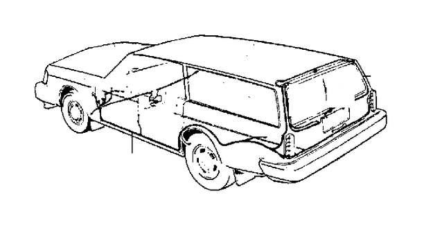 Volvo V70 Tailgate Wiring Harness. Volvo. Auto Wiring Diagram