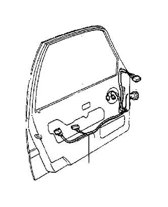 Cable harness bottom rail cabin 5-Door 1993-1995