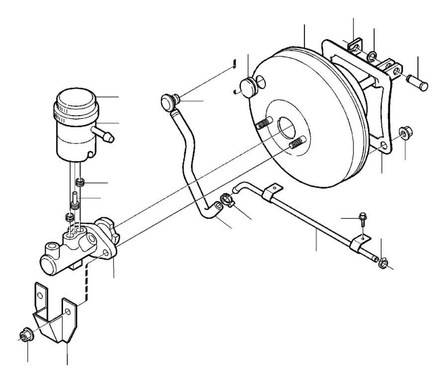 Volvo V40 2.0l 4 cylinder Turbo Decanter. Servocylinder