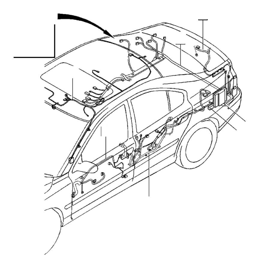 Volvo Cable harness, rear roof and doors