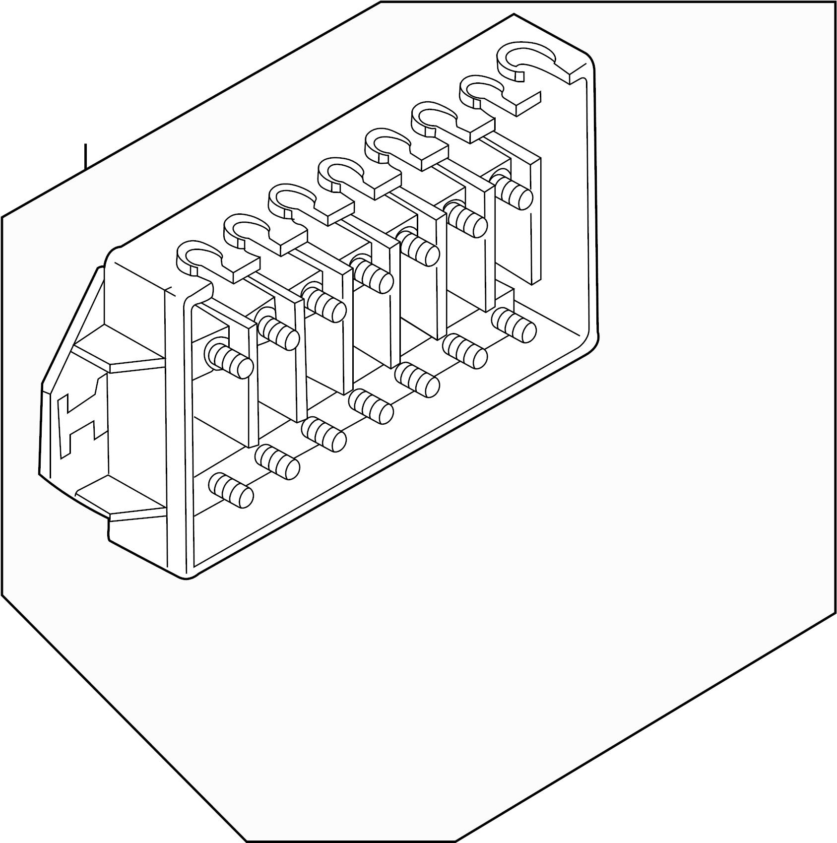 Main fuse box for Volvo V70. #9162321