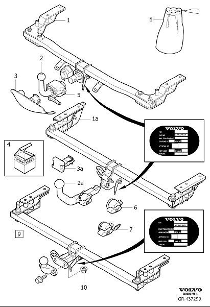 2011 Volvo Towing hook mechanism. Detachable, Designation