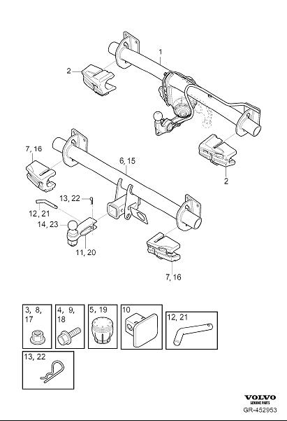 2018 Volvo XC60 Towing hook. Detachable, Designation
