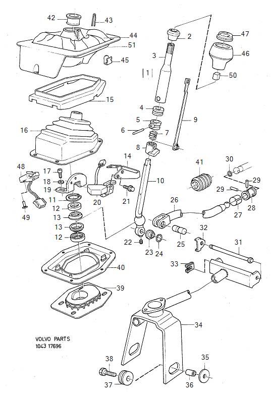 Volvo 940 Gear shift lever knob. Genuine Classic Part
