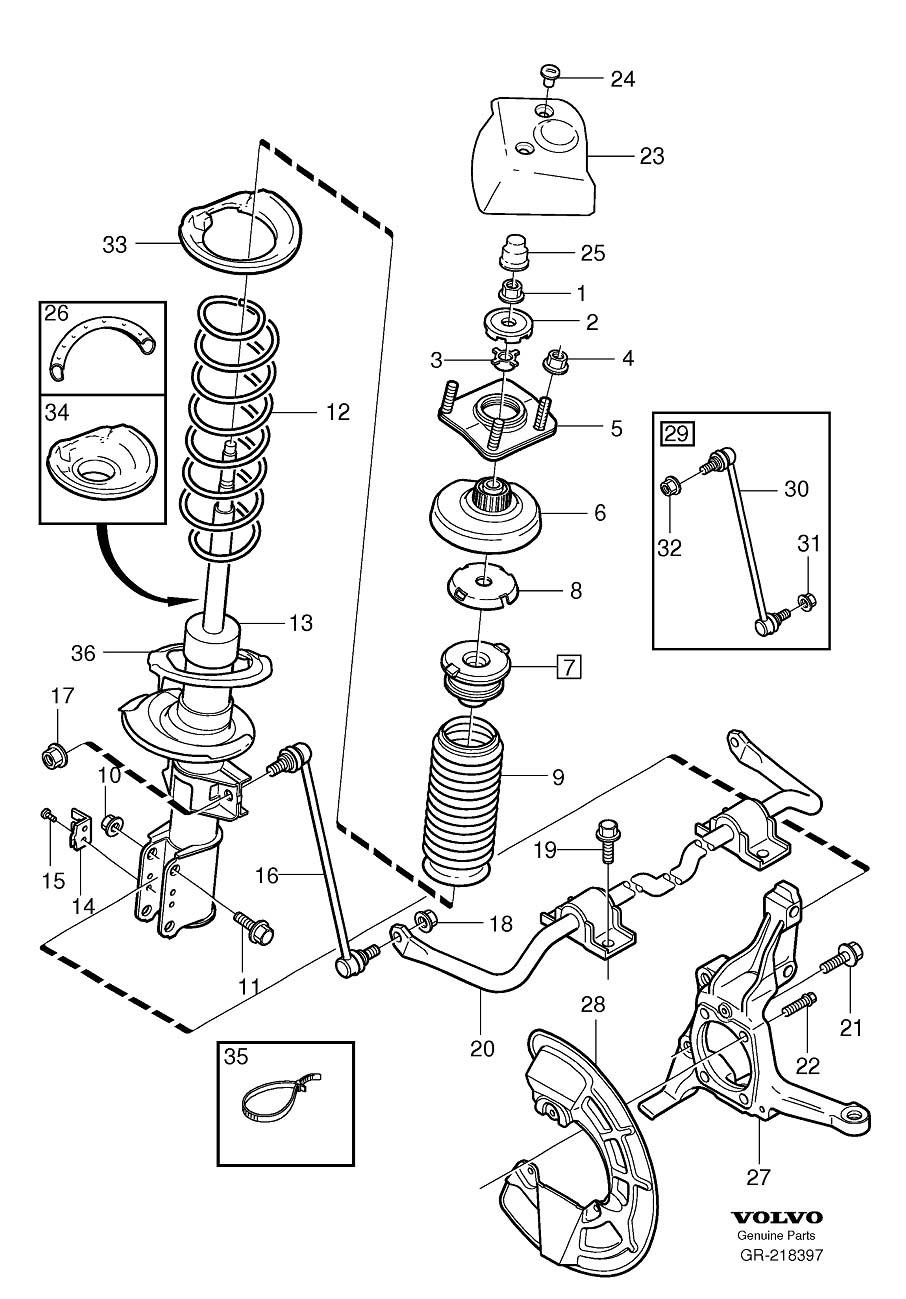 2001 s80 strut strut mount and bearing replacment