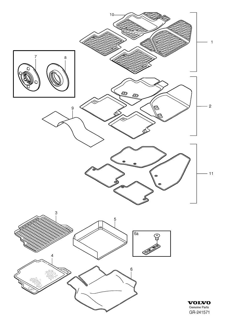 Volvo Insert mat V70, V70XC, XC70