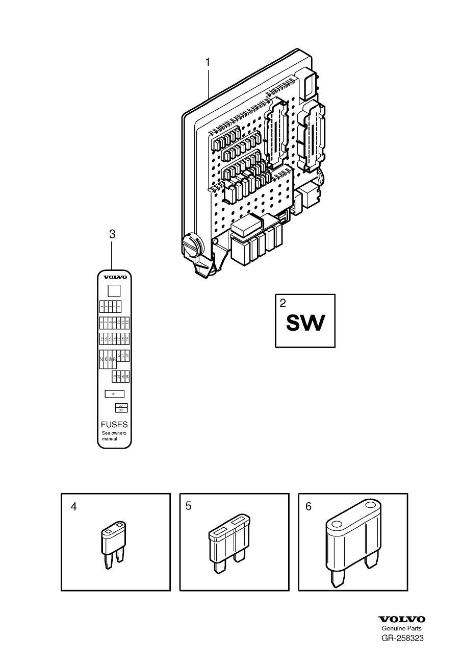 Volvo S40 Cabin Fuse Box. Volvo. Auto Fuse Box Diagram