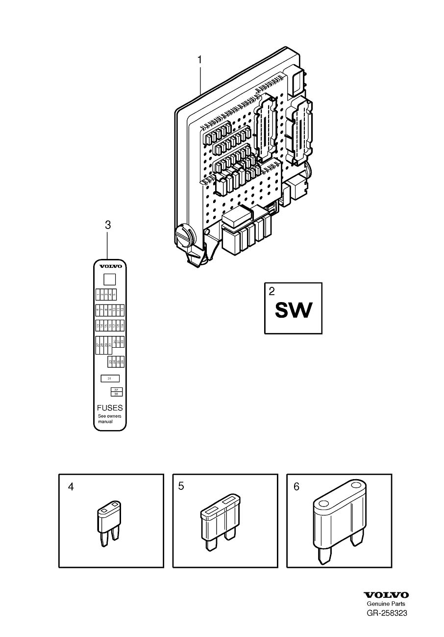 2004 Volvo Xc90 Fuse Box Ebay. Volvo. Auto Wiring Diagram