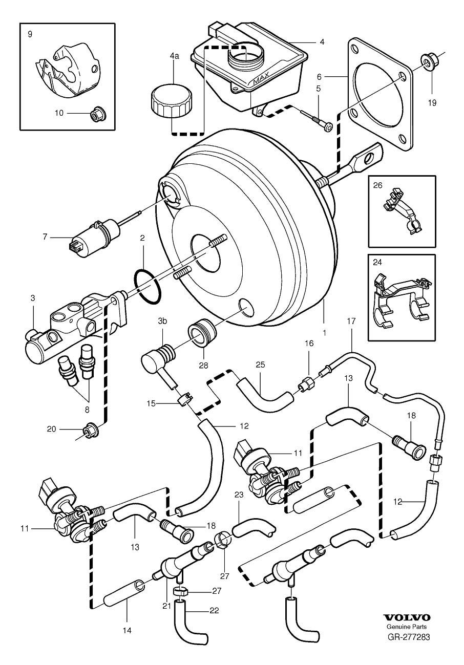 1999 Volvo S80 Brake cylinder, exch. Servocylinder