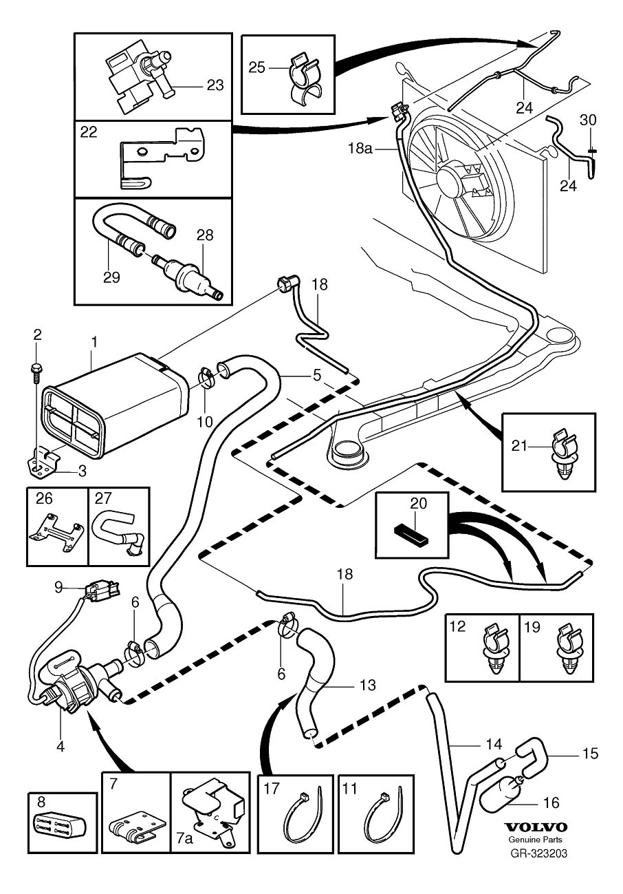 medium resolution of 2003 volvo s60 evap hose likewise 2004 volvo s60 wiring diagram as volvo s60 evap valve