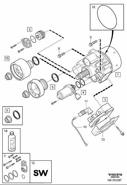 2010 Volvo XC60 Repair kit. AOC, Demand, Coupling