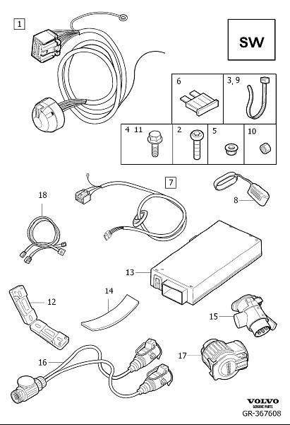 Towbar Wiring Diagram 13 Pin : Renault Scenic Towbar