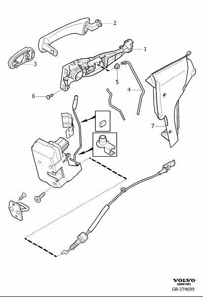 Service manual [2009 Volvo Xc90 Sliding Door Bracket