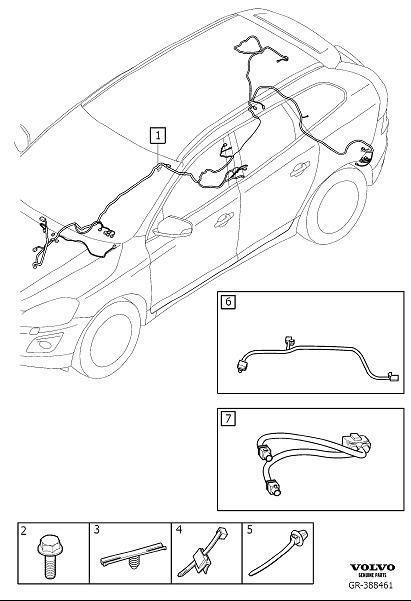 Volvo XC60 Wiring harness. Digital radio, DAB/DAB+. Excl