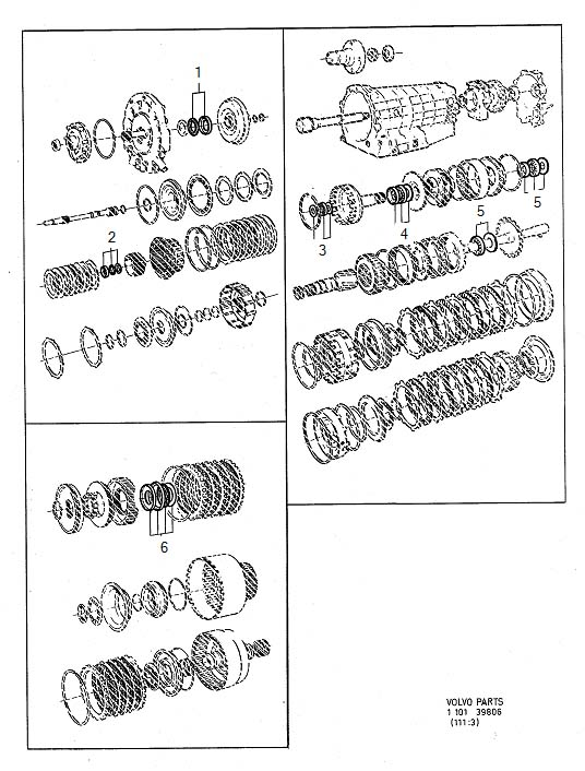 940 Automatic transmission, repair kits ZF22 Transmission ZF22