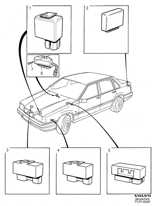 1996 Volvo Relay. Genuine Classic Part. Relays, Series