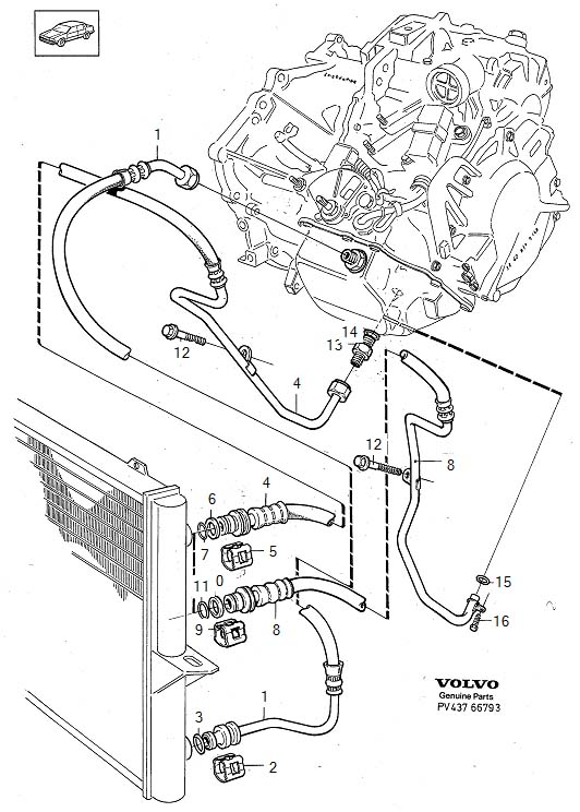Volvo 850 Transmission cooling AW50-42 le