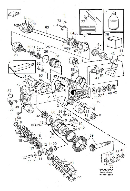 Service manual [Removal Of Axle Shaft 1992 Volvo 940