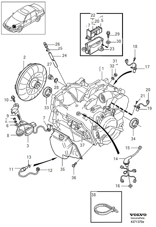 Volvo Transmission, automatic AW50-42, Diesel related