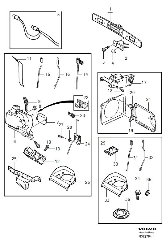 2005 Volvo Xc90 Tailgate Parts Diagram, 2005, Get Free