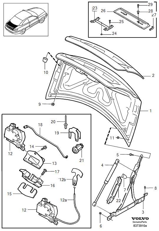 volvo s40 boot lock wiring diagram