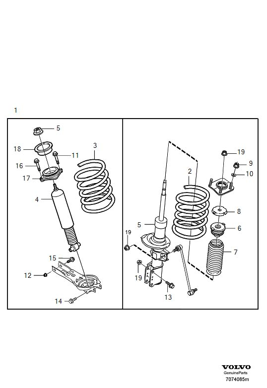 Volvo Suspension lowering kit V70, V70XC, XC70 TURBO