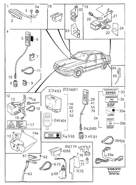 Volvo Burglar alarm Remote keyless entry system vga (guard