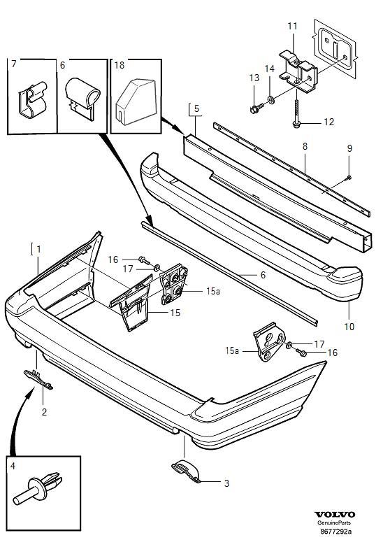 Service manual [How To Remove Rear Bumper 2001 Volvo C70