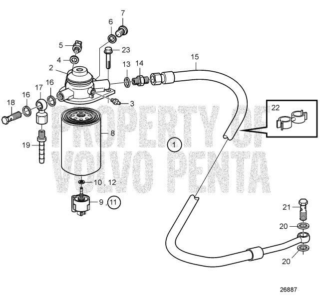 Fuel Filter D4-180I-B, D4-180I-C, D4-180I-D, D4-180I-E, D4