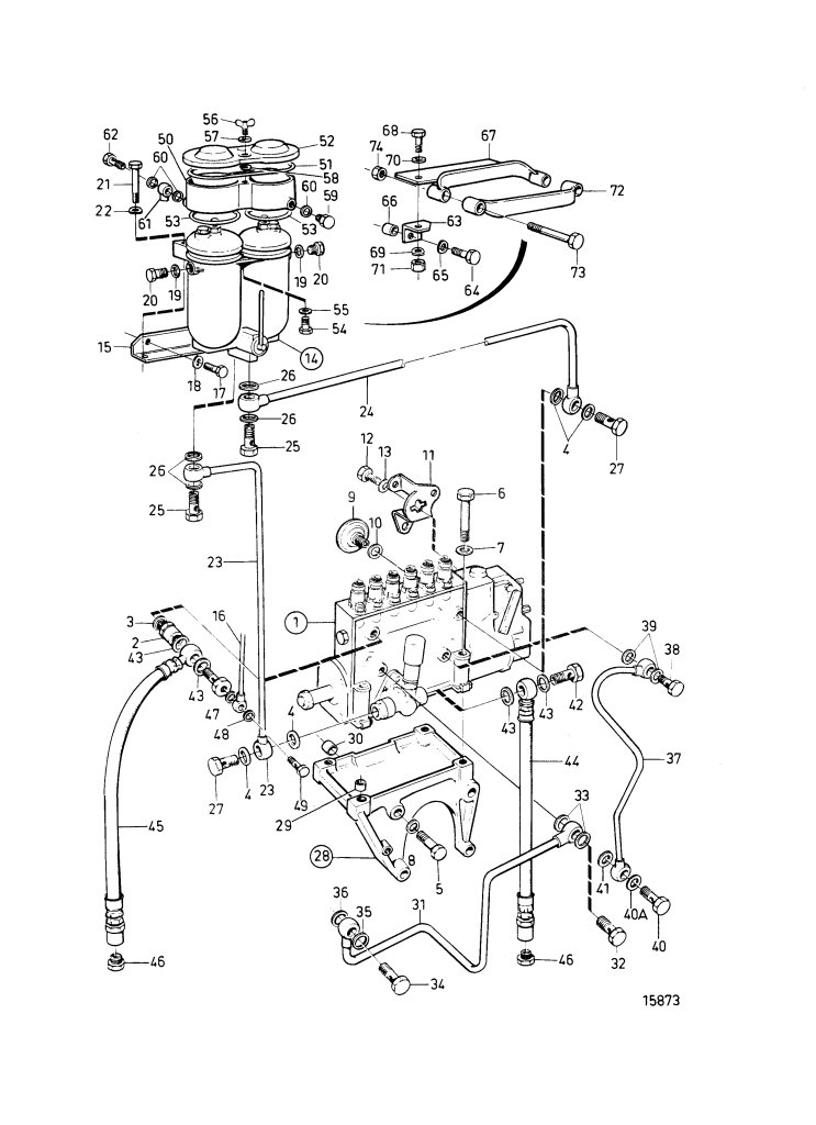 Fuel Injection Pump And Fuel Filter. Classifiable Fuel