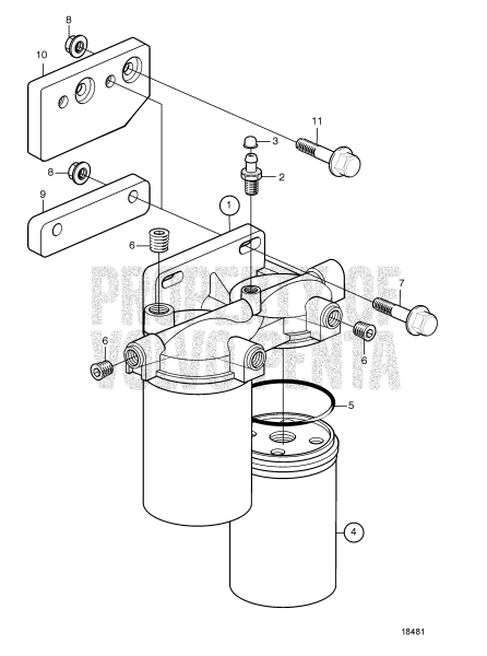 Fuel Filter: B TAMD74C-A, TAMD74C-B, TAMD74L-A, TAMD74L-B