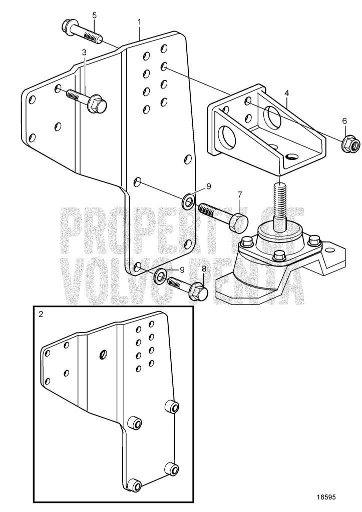 Engine Mounts For Reverse Gear Irm280a2-E/Zf 280a-Eb, 22.5