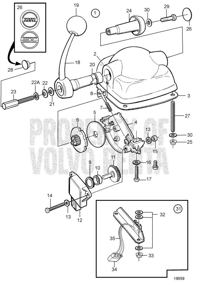 Control For Top Mounting, Edc: B KAD44P-A, KAD44P-B