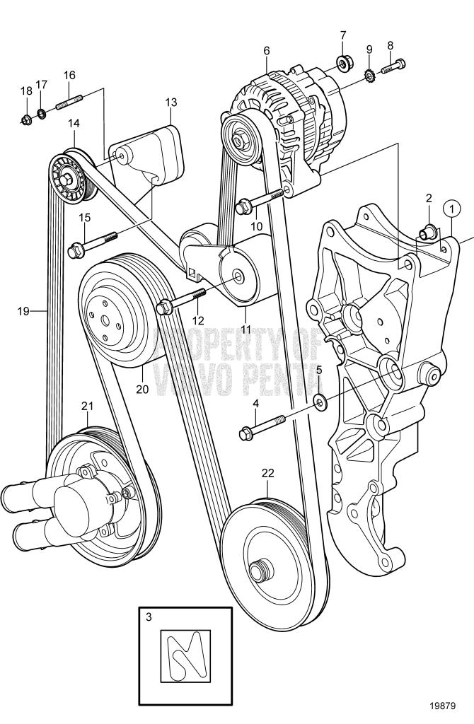 Serpentine Belt And Alternator 5.0GXi-C, 5.0GXi-CF, 5.0GXi