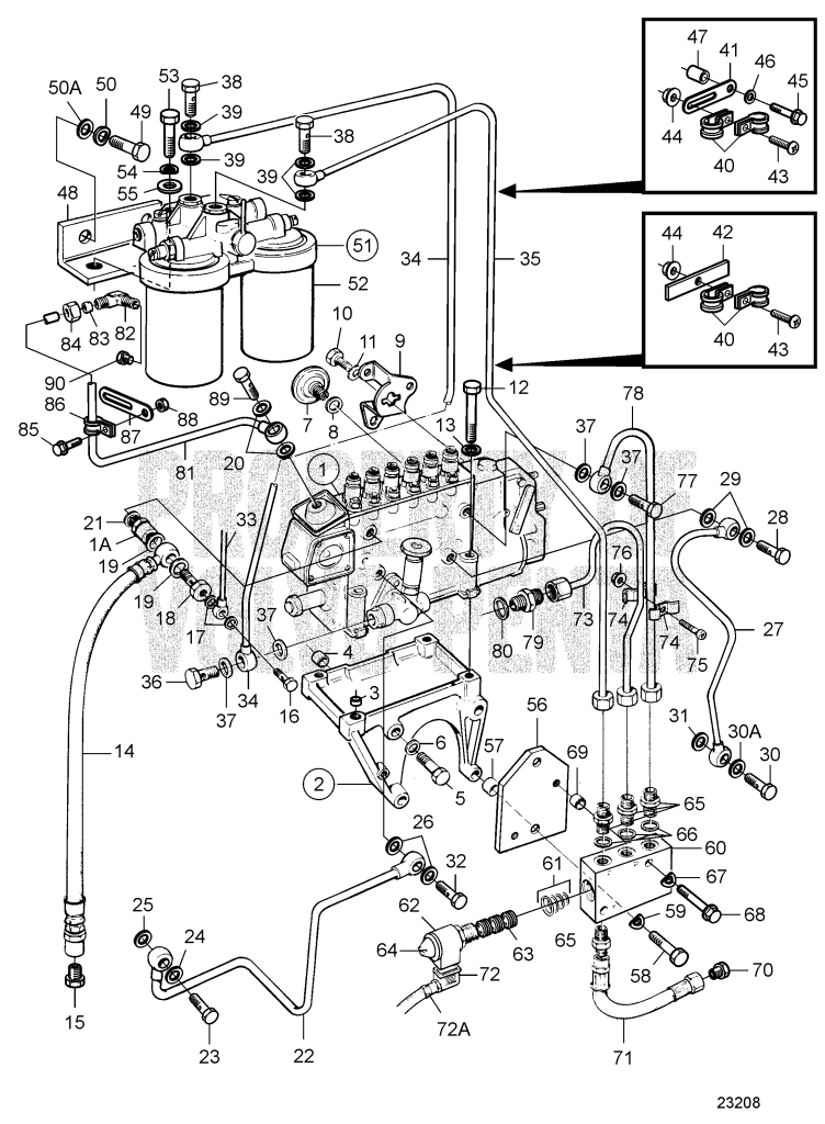 Fuel Injection Pump, Fuel Filter And Emergency Shut-Off