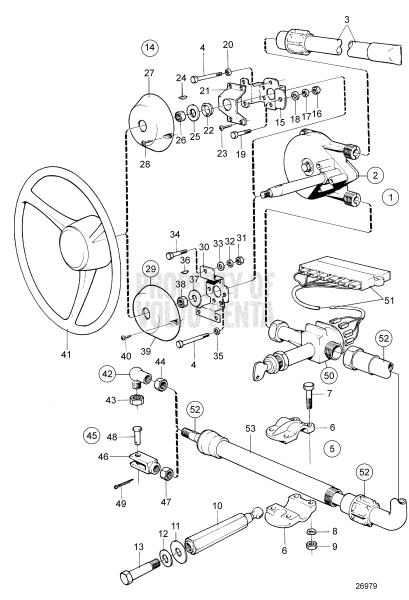 Steering Mechanism 2001, 2001B, 2001AG, 2001BG, 2002